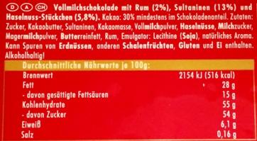 Ritter Sport, Rum Trauben Nuss (2)