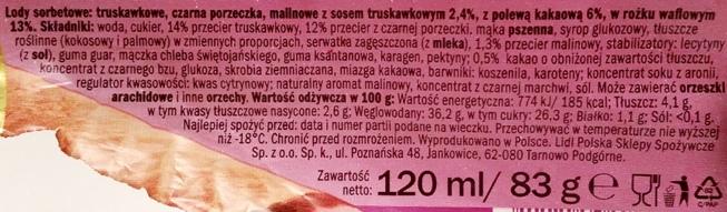 Ballino, Sorbet czerwone owoce (1)