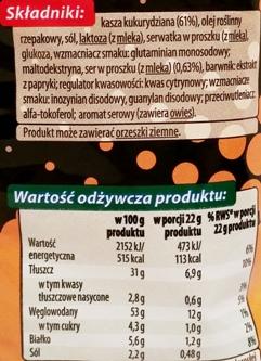 Fifor, Na Maxa chrupki kukurydziane o smaku sera (2)