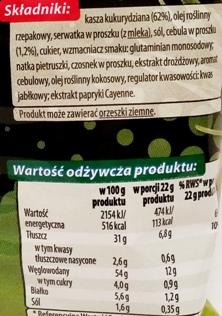 Fifor, Na Maxa chrupki kukurydziane o smaku zielonej cebulki (2)