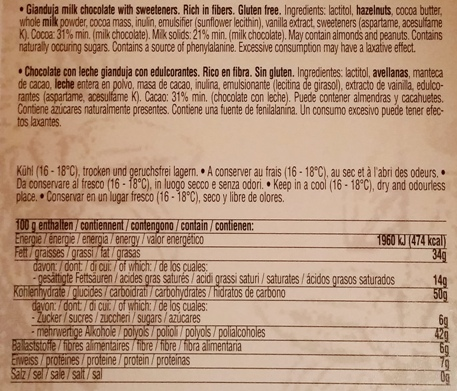 Chocolat Stella, Gianduja Lait Pate Noisettes (2)