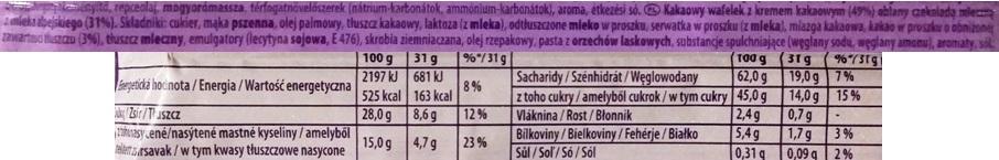 Milka, Wafelini Chokomax z kremem kakaowym (5)