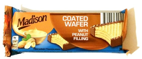 Madison, Coated Wafer with peanut filling (2)