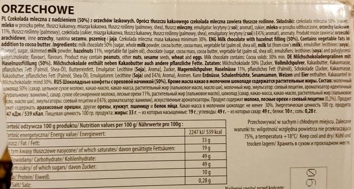 Wawel, czekoladki Orzechowe (4)