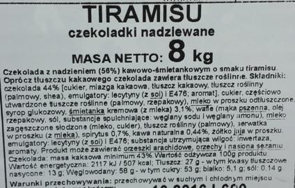 Wawel, czekoladki Tiramisu (4)