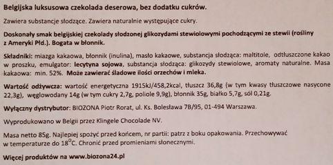 Balance, Dark with sweetener made form STEVIA plant, ciemna deserowa czekolada ze stewią, copyright Olga Kublik