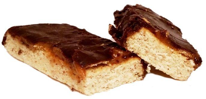 Legal Cakes, Baton Karmelovy, dietetyczne ciasto z karmelem i masłem orzechowym, copyright Olga Kublik