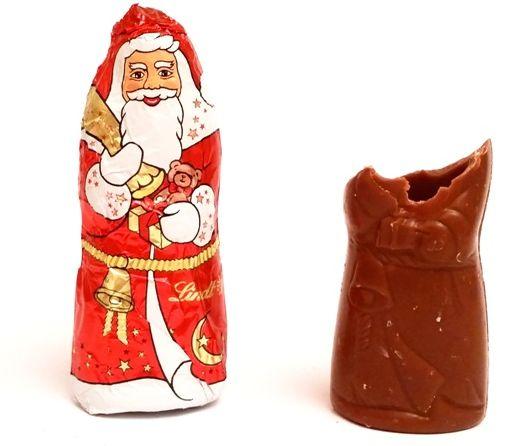 Lindt, Frohest Fest Mini Santa, czekoladowe mikołaje z mlecznej czekolady, copyright Olga Kublik