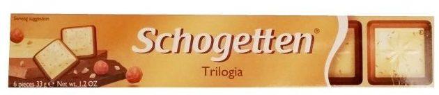 Ludwig Schokolade, Schogetten Trilogia, czekolada mleczna i biała oraz krem gianduja, copyright Olga Kublik