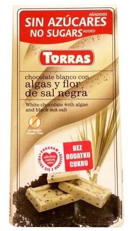 Torras, Chocolate blanco con algas y flor de sal negra, czekolada biała z solą i algami, copyright Olga Kublik