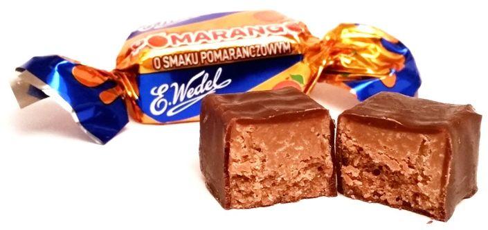 Wedel, czekoladowy cukierek z nadzieniem pomarańczowym Pomarango, Mieszanka Wedlowska, copyright Olga Kublik