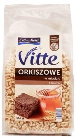 Crownfield, Vitte Orkisz w miodzie z brownie, preparowane zboża z Lidla, copyright Olga Kublik