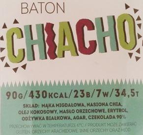 Legal Cakes, Baton Chiacho, dietetyczne ciasto z nasionami chia o smaku chałwy lub białych Michałków, copyright Olga Kublik