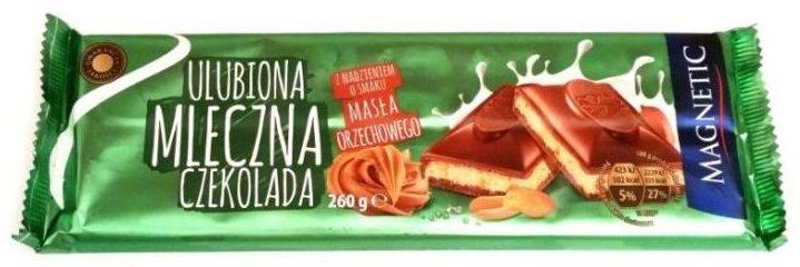Millano-Baron, Peanut Butter, mleczna czekolada z masłem orzechowym i fistaszkami marki Magnetic z Biedronki, copyright Olga Kublik