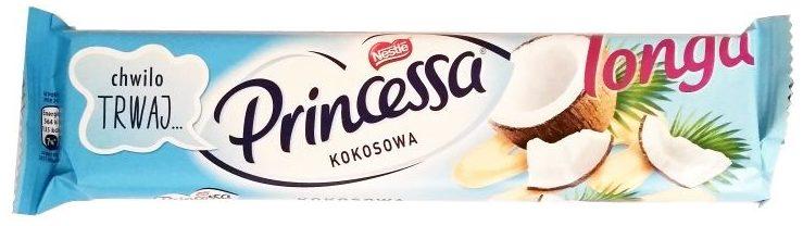 Nestle, Princessa Longa kokosowa, wafelek w białej czekoladzie z kremem kokosowym, copyright Olga Kublik