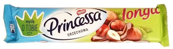 Nestle, Princessa Longa orzechowa, wafelek z kremem orzechowym oblany mleczną czekoladą, copyright Olga Kublik