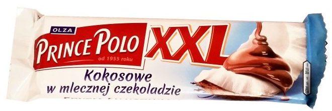 Olza, Prince Polo kokosowe, wafelek z kremem kokosowym w mlecznej czekoladzie, limitowana edycja, copyright Olga Kublik