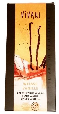 Vivani, Weisse Vanille, ekologiczna biała czekolada, copyright Olga Kublik