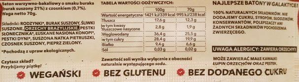 Zmiany Zmiany, warzywny raw bar Farmer burak czosnek, bez glutenu i cukru, naturalne składniki, copyright Olga Kublik