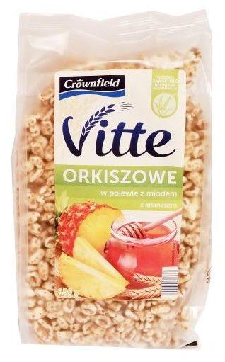 Crownfield, Vitte Orkiszowe w polewie z miodem z ananasem, płatki - preparowane zboża z Lidla, copyright Olga Kublik