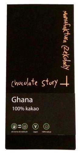 Manufaktura Czekolady, Chocolate Story Ghana 100%, ciemna czekolada, sto procent kakao, copyright Olga Kublik