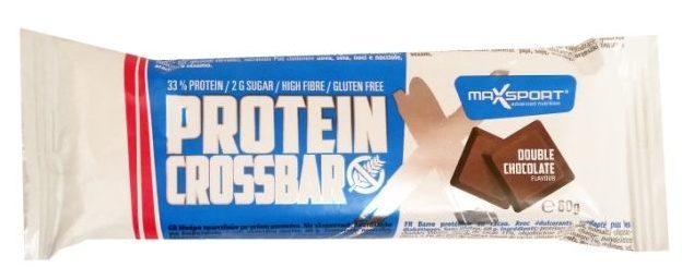 MaxSport, Protein Crossbar Double Chocolate Flavour, bezglutenowy baton dla osób ćwiczących o smaku czekoladowym, copyright Olga Kublik