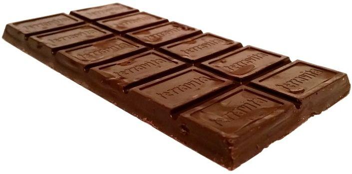 Terravita, 70% czekolada nadziewana cytrynowa, gorzka czekolada z kremem cytrusowym, copyright Olga Kublik