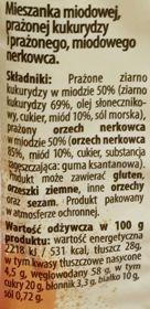 Bakalland, Cud Miód, prażona w miodzie kukurydza i prażone w miodzie orzechy nerkowca, skład i wartości odżywcze, copyright Olga Kublik