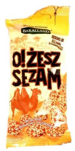 Bakalland, O! Żesz Sezam, orzeszki ziemne w miodzie z sezamem, copyright Olga Kublik