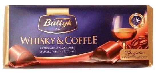 Bałtyk, Whisky & Coffee, mleczna czekolada z nadzieniem o smaku whisky i kawy, copyright Olga Kublik