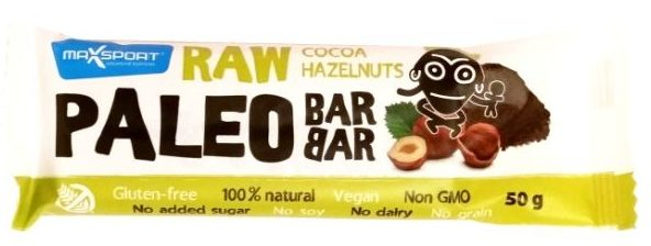 MaxSport, Raw Bar Paleo Cocoa Hazelnut, copyright Olga Kublik