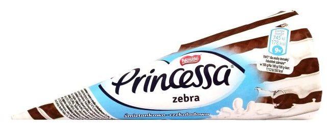 Nestle, rożek Princessa Zebra śmietankowo-czekoladowa, lody, copyright Olga Kublik