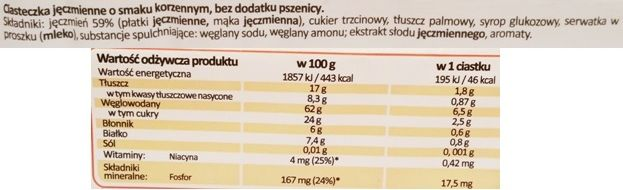 Sante, Ciasteczka Jęczmienne o smaku korzennym, copyright Olga Kublik