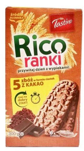 Tastino, Rico ranki 5 zbóż z kakao, pełnoziarniste herbatniki z kawałkami mlecznej czekolady, ciastka z Lidla, copyright Olga Kublik