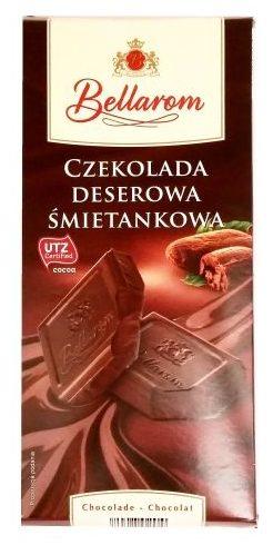 Ballarom, Czekolada deserowa śmietankowa z Lidla, copyright Olga Kublik