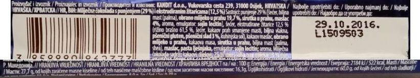 Kandit, Kandi Crunch Brunch Milky, baton z kakaowymi zbożowymi chrupkami w mlecznej czekoladzie, skład i wartości odżywcze, copyright Olga Kublik