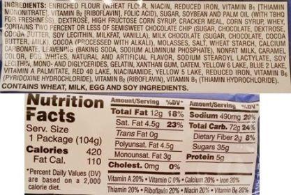 Kellogg's, Pop Tarts Frosted Chocolate Chip, tosty z Ameryki, ciastka z nadzieniem czekoladowym i lukrem, skład i wartości odżywcze, copyright Olga Kublik