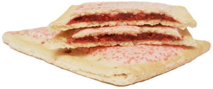 Kellogg's, Pop Tarts Frosted Cherry, amerykańskie ciastka tosty z lukrem i nadzieniem wiśniowym, copyright Olga Kublik