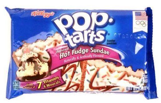 Kellogg's, Pop Tarts Frosted Hot Fudge Sundae, amerykańskie ciastka tosty z lukrem i nadzieniem, copyright Olga Kublik