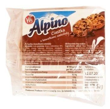 Kettner Group, Hi Alpino Ciastka z kawałkami czekolady, kruche herbatniki typu pieguski, copyright Olga Kublik