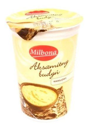 Milbona, Aksamitny budyń waniliowy, deser z Lidla na bitej śmietanie, copyright Olga Kublik