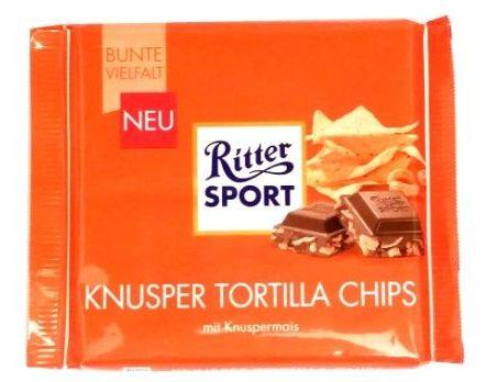 Ritter Sport, Tortilla Chips, mleczna czekolada z chrupkami nachos, copyright Olga Kublik