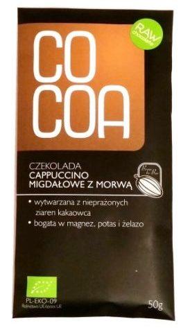 SuroVital, Cocoa cappuccino migdałowe z morwą, ciemna surowa czekolada, raw food, copyright Olga Kublik