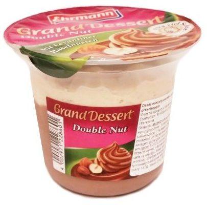 Ehrmann, Grand Dessert Double Nut, gęsty budyń o smaku orzechów laskowych z bitą śmietaną, copyright Olga Kublik