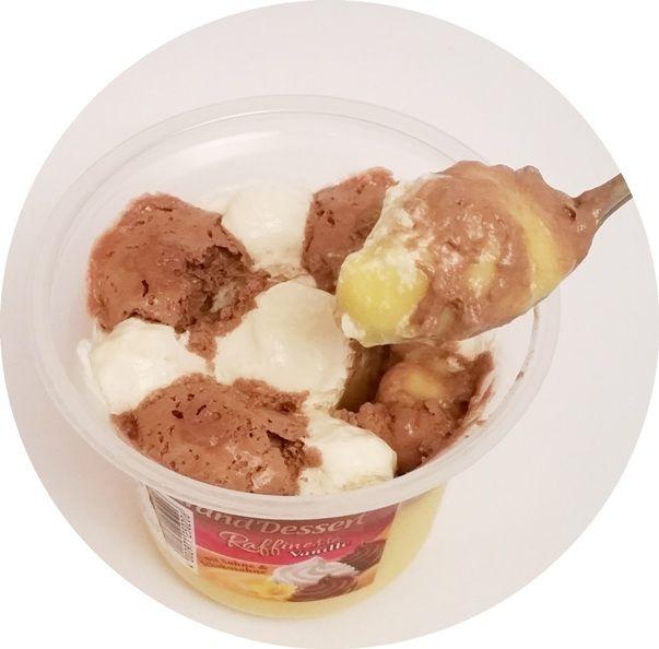 Ehrmann, Grand Dessert Raffinesse Vanille, waniliowy budyń z bitą śmietaną o smaku śmietankowym i czekoladowym, copyright Olga Kublik