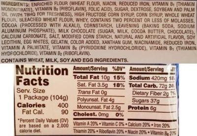 Kellogg's, Pop Tarts Frosted S'mores, amerykańskie tosty z nadzieniem o smaku pianek marshmallow i czekolady, skład i wartości odżywcze, copyright Olga Kublik