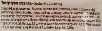 Mamut, Chrrruper, sucharki z żurawiną, skład i wartości odżywcze, copyright Olga Kublik