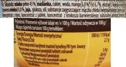 Muller, Riso Kokos mango, tropikalny ryż na mleku, skład i wartości odżywcze, copyright Olga Kublik