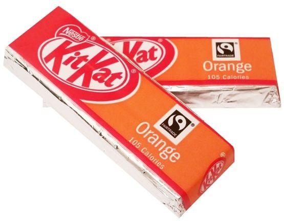 Nestle, Kit Kat Orange, wafelki z kremem kakaowym w mlecznej czekoladzie o smaku pomarańczy, copyright Olga Kublik