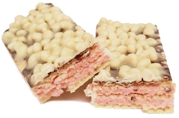 Nestle, Princessa Special Edition White Raspberry, wafel z kremem malinowym i chrupkami w białej czekoladzie z czekoladą deserową, copyright Olga Kublik